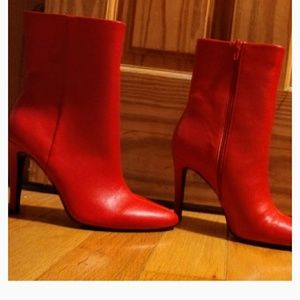 Feisty red hot boots
